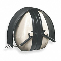 Ear Muff, 21dB, Folding, Black/White