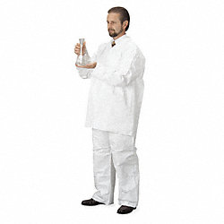 Disposable Collared Shirt, White, 3XL, PK12