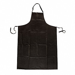 Bib Apron, Black, 45 In. L