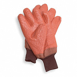 Cold Protection Gloves, L, Orange, PR