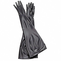 Seamless Dry Box Glove, Butyl, 32 In. L, PR