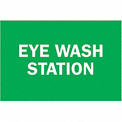 Eye Wash Sign, 7 x 10In, WHT/GRN, AL, ENG