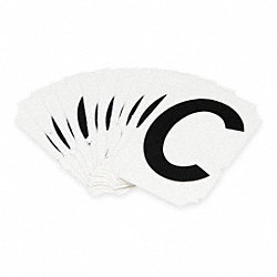 Letter Identification Card, C, PK 10
