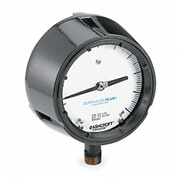 Pressure Gauge, Process, 4 1/2 In, 160 Psi
