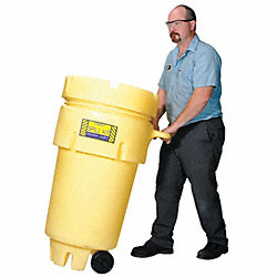 Spill Kit, Wheeled Can, 16 gal.