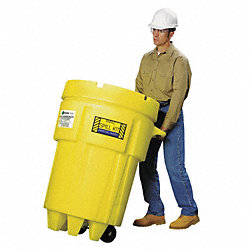 Spill Kit, Wheeled Can, 61 gal., Oil Only