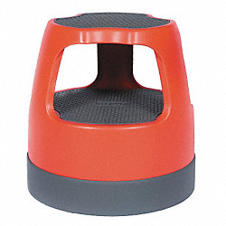 Step Stool, 15 In H, 300 lb., Plastic