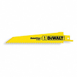Reciprocating Saw Blade, 1 In. W, PK 5