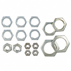 Assorted Hex Nuts, PK 16