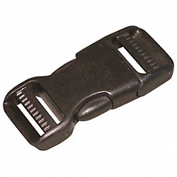 Side Squeeze Buckle, 1 In., Plastic, PK 10