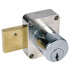 Pin Tumbler Cam Door Lock, Dull Chrome, KD
