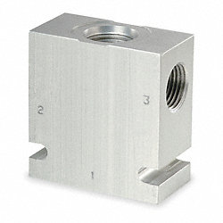 Valve Base, 3/4-16 SAE, Steel, 10-3 Cavity