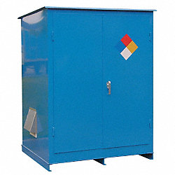 Flammable Outdoor Cabinet, 2X55 Gal., Blue