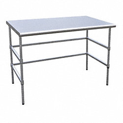 Worktable, W 60, D 30, H 34 1/2 In, C Frame
