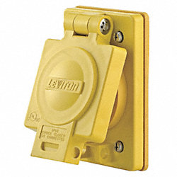 Weatherproof Cover, 30A Locking, Yellow
