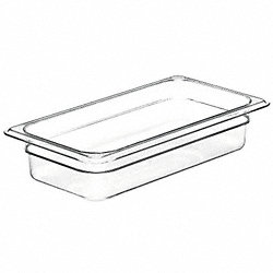 Food Pan, Third Size, Clear, PK 6