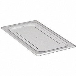 Food Pan Lid, Third Size, Clear, PK 6