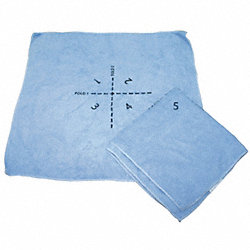 Cleaning Cloth, Microfiber, Blue, PK 12