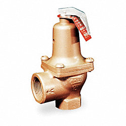 Safety Relief Valve, 1 In, 125 psi, Bronze