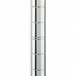 Shelf Post, 74 in. H, Steel, PK 2