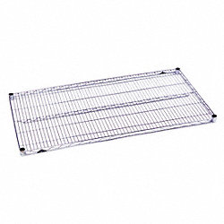 Wire Shelf, 1-1/8 H x 24 W x 72 in. D, PK5