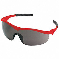 Safety Glasses, Gray, Scratch-Resistant
