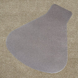 Chair Mat, Workstation, Carpet, 66 x 60 In