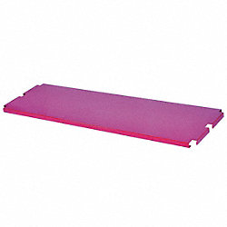 Platform Truck Shelf, Red, 60 x 16 In