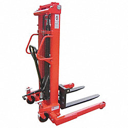 Adj Base Hyd Stacker, 2000 lb, 98 In Lift