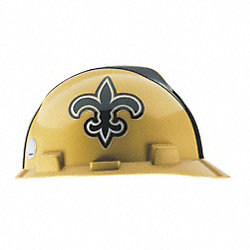 NFL Hard Hat, New Orleans Saints, Gold/Blk