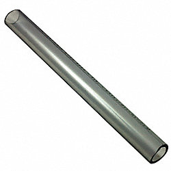 Tubing, Rigid PVC, 5/8 In OD, 6Ft, Clear