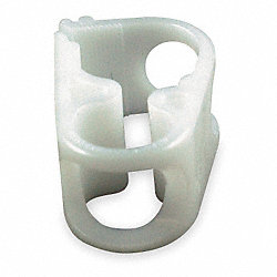 Plastic Clamp, Tube 1/4 In, Pk 25