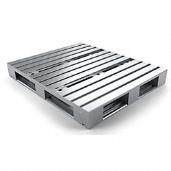 Pallet, Rackable, 48x40In, Galvanized