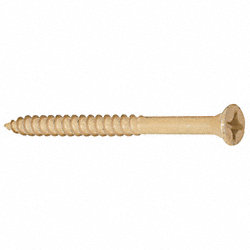 Wood Screw, Flat, 9x2 1/2 L, PK 84