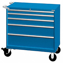 Mobile Workbench Cabinet, Bright Blue