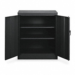 Counter Height Cabinet, Unassembled, Black