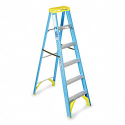 Stepladder, Fiberglass, 6 ft. H, 250 lb Cap