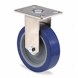 Rigid Plate Caster, 450 lb, 5 In Dia