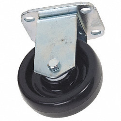 Rigid Plate Caster, 250 lb, 3-1/2 In Dia