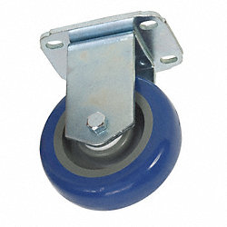 Rigid Plate Caster, 275 lb, 4 In Dia