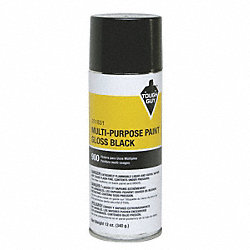 Spray Paint, Gloss Black, 12 oz.