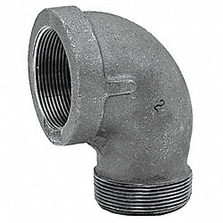 Street Elbow, 90 Deg, 1/8 In, NPT, Iron