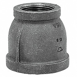 Reducer, 3/4 x 1/2 In, NPT, Black Iron