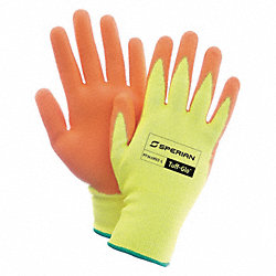 Cut Resistant Gloves, Yellow/Orange, L, PR