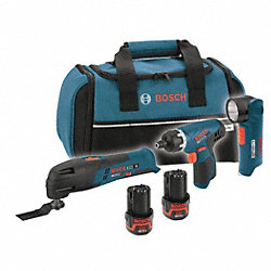 Cordless Combination Kit, 12.0V, 1.3A/hr.