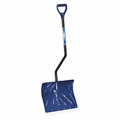 Snow Shovel, Poly, 18 In W, 13-1/2 In H