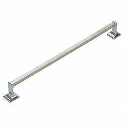 Square Towel Bar, Zamac, Chrome Finish