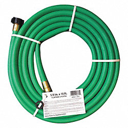 Water Hose, Rnfrcd PVC, 5/8 In ID, 15 ft L