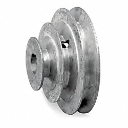 V-Belt Pulley, 4 In OD, 5/8 Bore, 4 Step