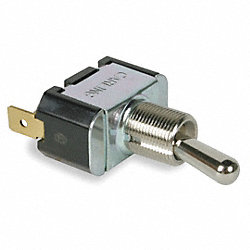 Toggle Switch, SPST, 2 Conn., On/Off